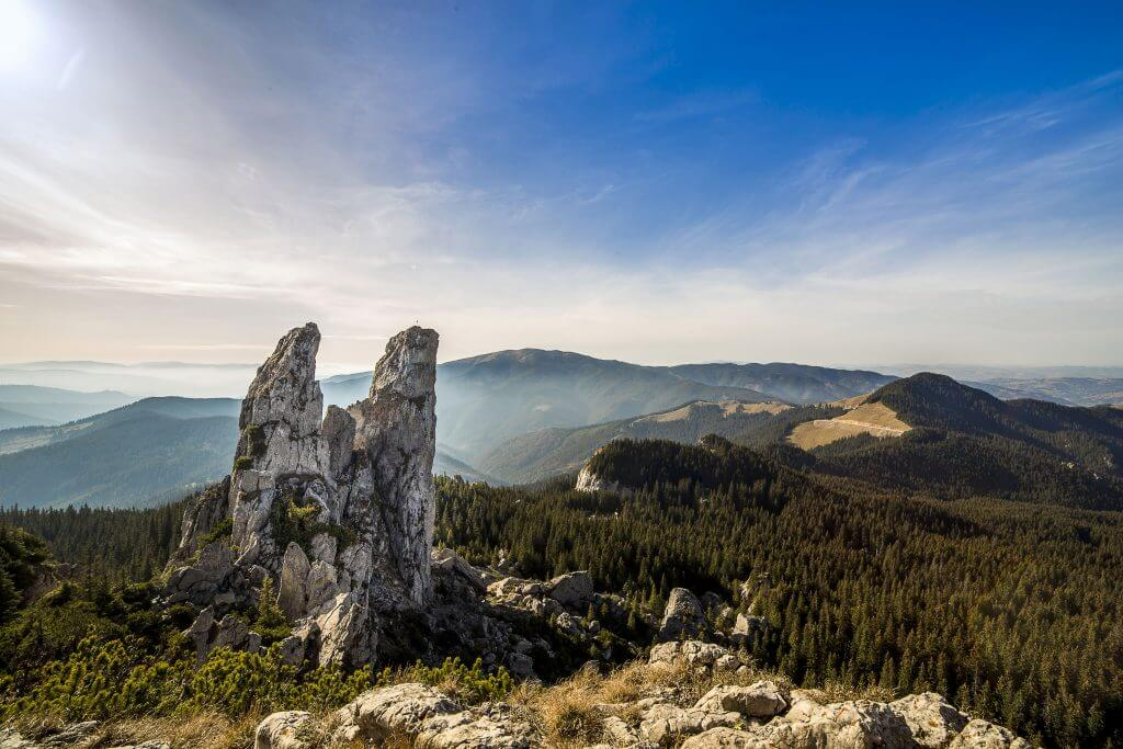 landscape of mountains in romania